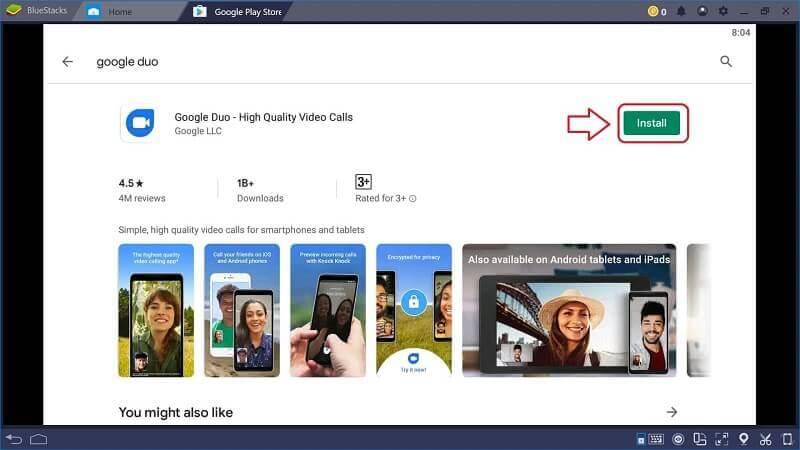 Install Google Duo