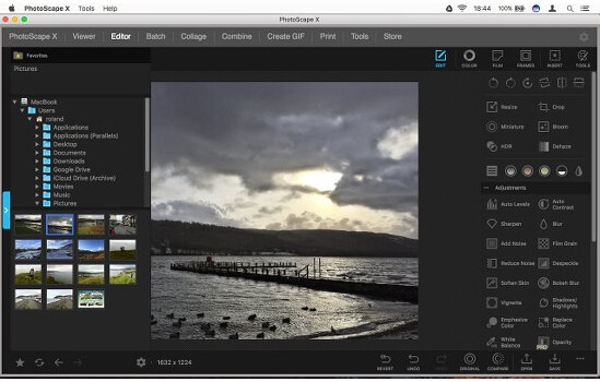 PhotoScape X Free Photo Editing Websites