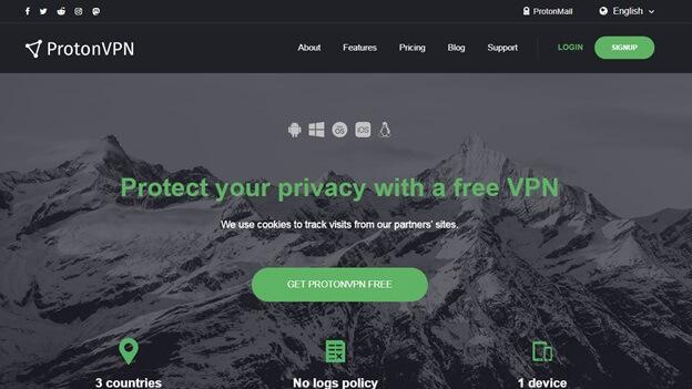 ProtonVPN Free VPN Websites