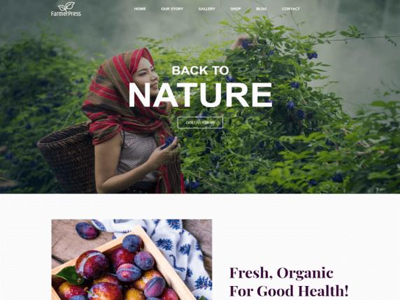 best free WordPress garden themes