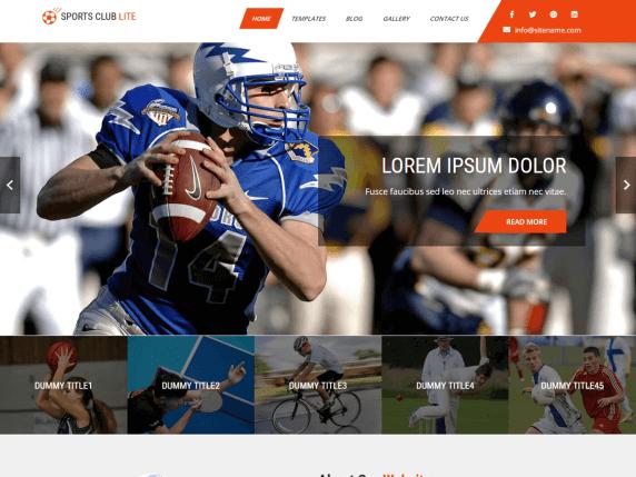 7 Best sport WordPress themes